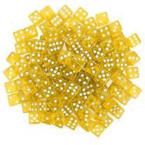 100 Yellow Dice - 16mm