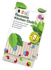 Smart 10047 Reusable Quilted Kitchen Cloth, Swirl Pattern,