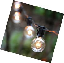 100Ft G40 Globe String Lights with Clear Bulbs-UL Listed for