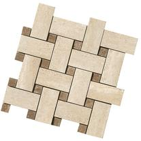 Samson 1038238 Travertini Polished Mosaic Weave Floor and