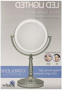 Zadro 10X/1X Magnification Dual-Sided Vanity Mirror, Satin