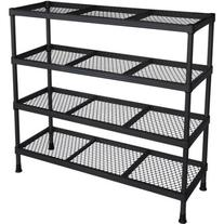 "Sandusky 31""W x 31""H x 11""D 11-Shelf Wire Shelving, Black"