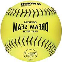 Worth 11 NSA Dream Seam PL Fastpitch Softballs YELLOW W/