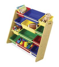 Whitmor  12 Bin Toy Organizer, Primary