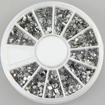 350buy 12 Different Shape Glitter Silver Rhinestones Gems
