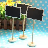 Worldoor® New 12 MINI chalkboard blackboards on stick stand