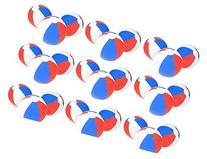 12'' PATRIOTIC Beach Balls ~ RED WHITE & BLUE Beach Ball