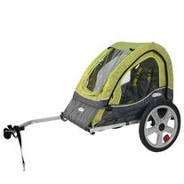 InSTEP 12-QE104 Single Sync Bicycle Trailer in Green/Gray
