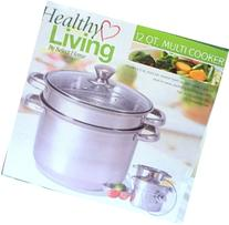 12 Qt Stock Pot with Steamer Insert and Colander to Boil
