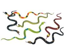 "12 Rubber RAINFOREST Snakes/14"" Rain Forest Snake Figures/"