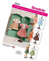 Simplicity Creative Patterns 1244 Vintage 18-Inch Doll