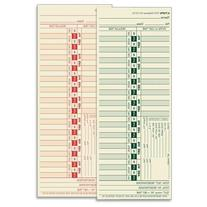 Wholesale CASE of 10 - Tops Bi-Weekly Time Clock Cards-Time