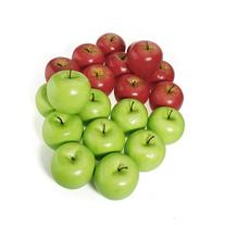 12pcs Decorative Large Artificial Green Apple Plastic Fruits