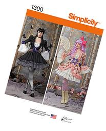 SIMPLICITY 1300 MISSES' COSTUME W/ OVERDRESS & SKIRT  SEWING