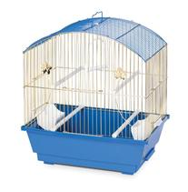 Prevue Hendryx 1404 Round Roof Parakeet Cage, Brass and Blue