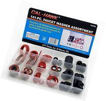 Cal Hawk CZFWA 141-pc. Faucet Washer Assortment Kit, 18