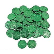 144  ~ 4-leaf Clover Good Luck Coins ~ Plastic ~ Approx. 1.5