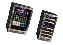 Edgestar 148 Can Stainless Steel Beverage Cooler & 26 Bottle