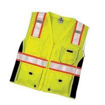 ML KISHIGO 1513-2X Safety Vest, Black Panels, Lime, 2X