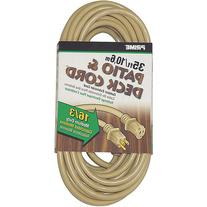 Prime Wire 35-Foot 16/3 SJTW Patio and Deck Extension Cord,