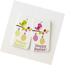 16 Easter Gift Tags, Easter Favor Tags, Bird Easter Tags