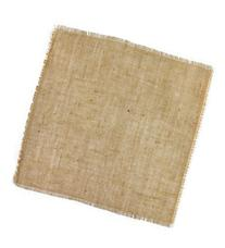 "16""x16"" Fringed Jute Sheets - 12 Pack"