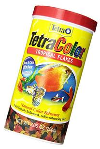 Tetra 77160 TetraColor Tropical Flakes, 1-Ounce, 185 ml