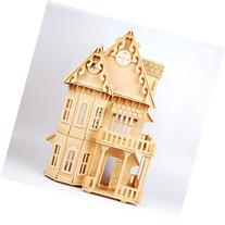 17 Wooden Dream Dollhouse 6 Rooms DIY Kits Miniature Doll