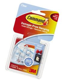 3M 17092CLR-VP Command 6PK CLR or Clear or Cleaner Hook -