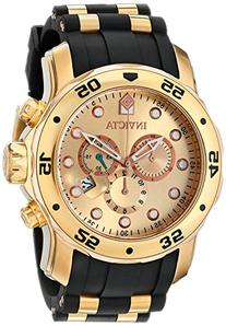 Invicta 17884 Men's Pro Diver Chronograph Gold Dial Gold