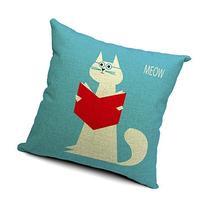 Decorbox Village Cute Cat Cotton Linen Decorative Throw