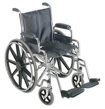 DMI Transport Chair Travel Wheelchair with Solid Steel