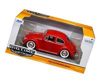 1959 Volkswagen Beetle Red with Baby Moon Wheels 1/24 by