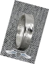 1960-1964 Silver Quarter Coin Ring Handmade Proof Washington