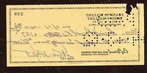 1962 Frank Kellert Signed Personal Check Member 1955