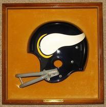 "1970'S Riddell Helmet Plaque Vikings 15"" X 15"" Half Helmet"