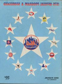 1976 New York Mets Official Program & Scorecard