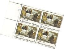 1983 TREATY OF PARIS #2052 Plate Block of 4 x 20 cents US