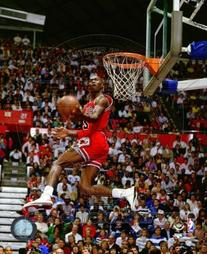 Michael Jordan 1987 Slam Dunk Contest Action Glossy