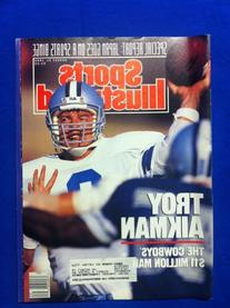 1989 Sports Illustrated August 21 Troy Aikman Dallas Cowboys