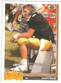 1991 Upper Deck # 13 Brett Favre  - Green Bay Packers -