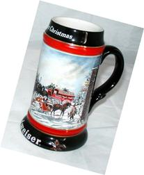 1992 BUDWEISER A PERFECT CHRISTMAS HOLIDAY STEIN NEW by
