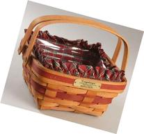 Longaberger 1993 Christmas Bayberry Basket with Plaid Liner