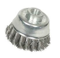 Westward 1GBJ3 Knot Wire Cup Brush, 2 3/4 In Dia, Steel