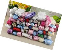 2x12yards/lot Random Lace Trim Embellishment Flower Ribbon