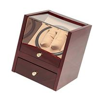 2+4 Redwood Dual Watch Winder Box AC/DC & Battery Operated w