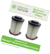 2 Washable & Reusable Filters for Hoover Windtunnel Bagless