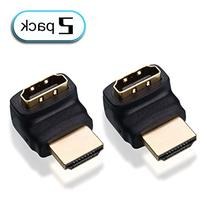 2-Pack, 270 Degree HDMI Male to Female Adapter