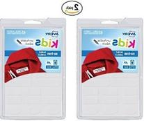 2 Pack Avery No-Iron Clothing Labels, White, Assorted, Pack