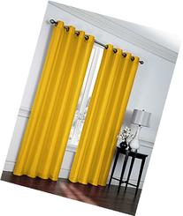 """2- Piece Faux Silk Grommet Curtain Panels - 54"""" By 84"""" Inch"""
